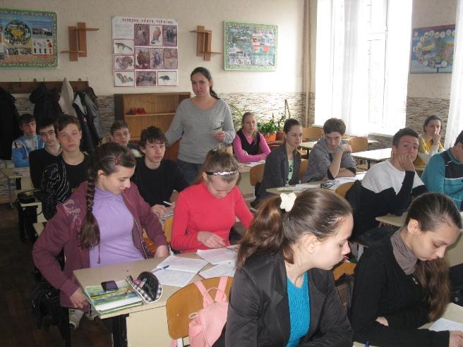 Під час зустрічі з випускниками ЗОШ №6 (м. Мерефа)