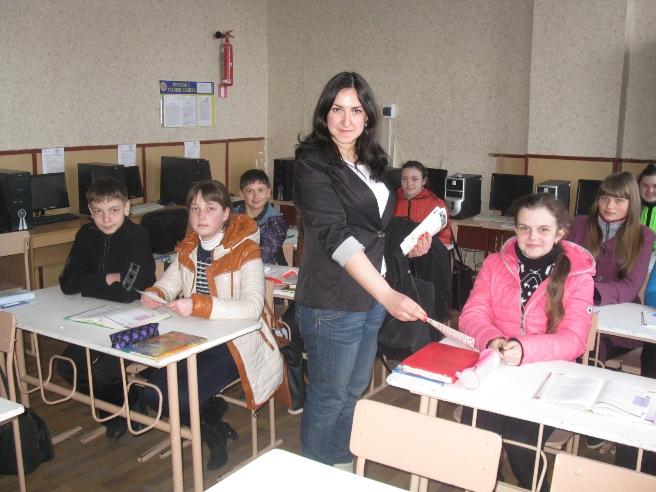 Німченко К.А. під час зустрічі з учнями 9-А кл. Валківської ЗОШ