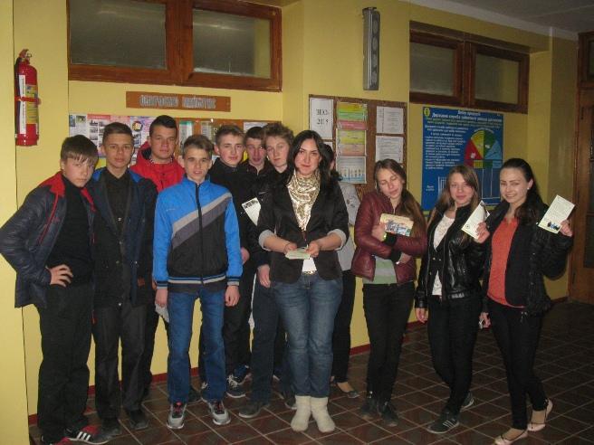 Під час зустрічі з випускниками Валківського ліцею ім. Олександра Масельського