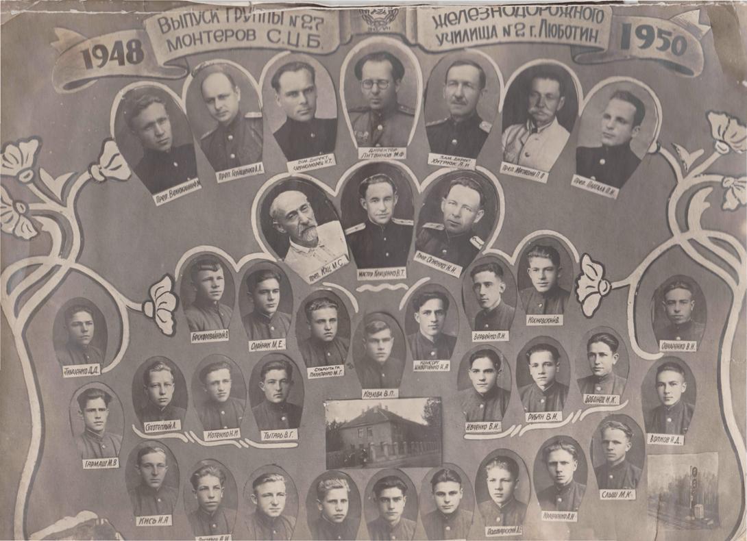 Випуск групи 1948-1950 роки.