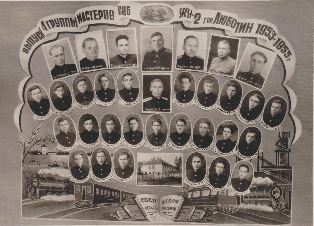 Випуск групи 1953-1955 роки.