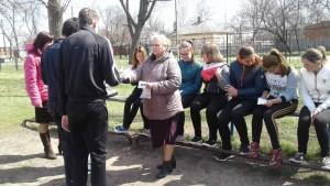Під час зустрічі з учнями Чугуївської ЗОШ №4